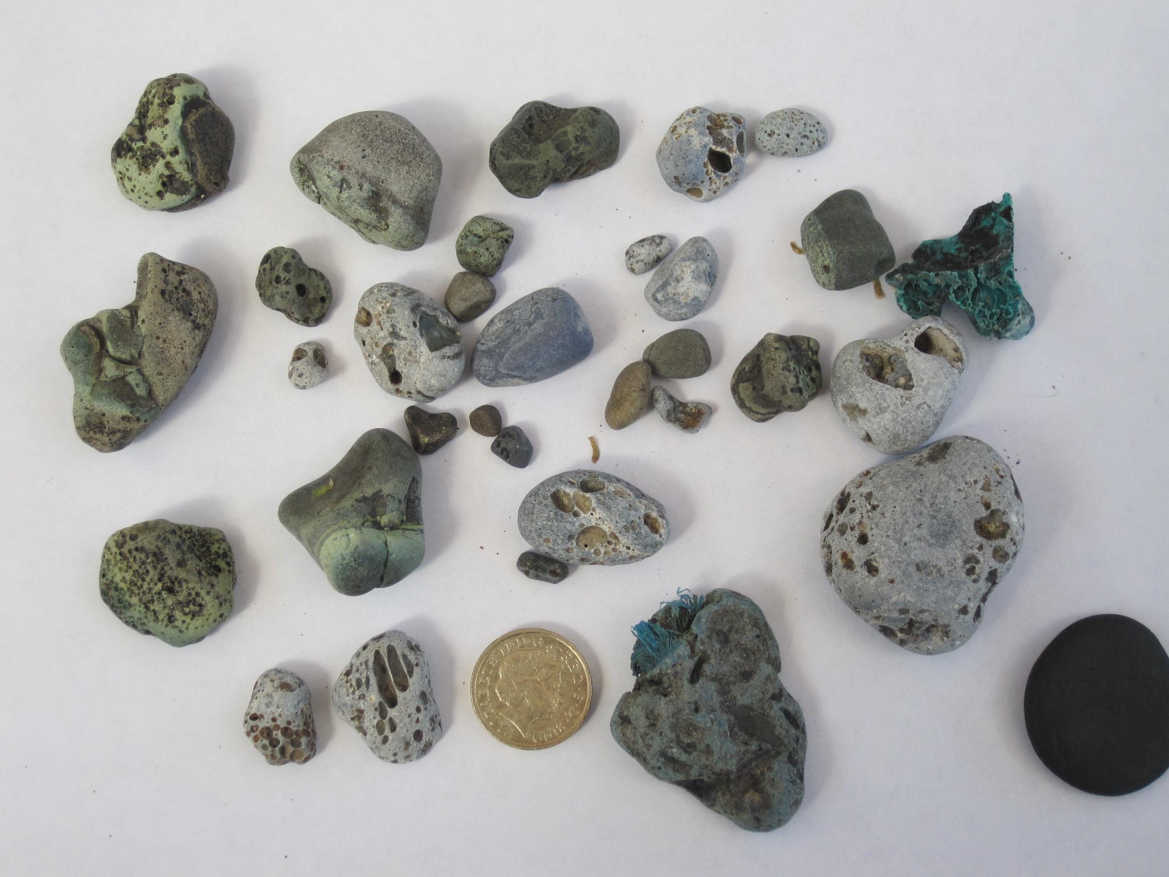 Coal Slag Rock : The volcanoes of workington solway shore walker