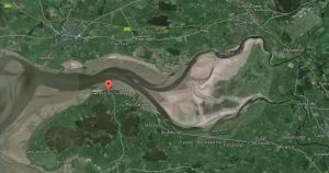 The English and Scottish sides near Bowness-on-Solway. From Google Earth