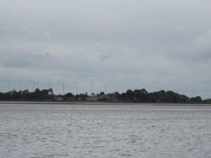 Bowness-on-Solway seen from the far side of the Firth