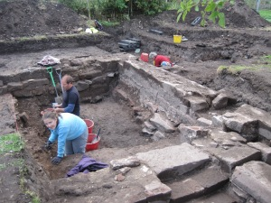 A new section of the dig