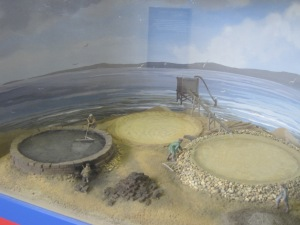 Saltpans model in the new exhibition space at Holme Cultram Abbey