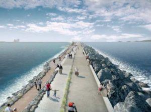 Artist's impression of the Swansea lagoon