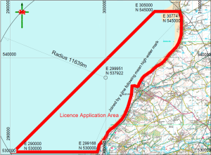 CLNR's licence area, Maryport and Allonby Bay