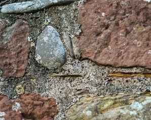 'Large blocks of sandstone mixed with cobbles' (C)Fiona Smith Photography