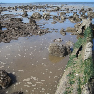 The tide creeps in quietly at Allonby Bay