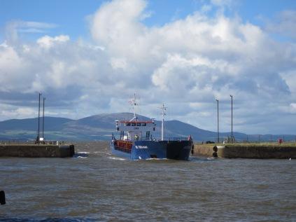 Celtica Hav enters Marshall Dock at high tide