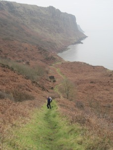 The path to Barrowmouth Bay