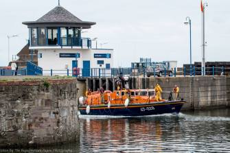 The Sir John Fisher enters Whitehaven marine (thanks to Mark Regan for this photo)