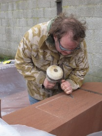 Tom Baron carving