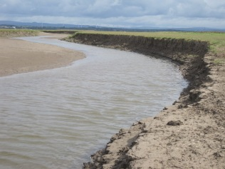 A barrier of mud, sand and water